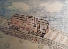 Vintage View #16 the Pacific Rail car by handylight
