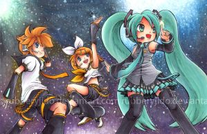 collab - Vocaloid by rubberyjido