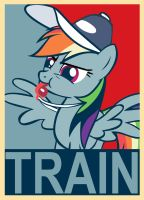 Rainbow Dash - Train Poster by Bouxn