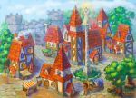 Town by lowly-owly