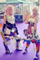 Lightning nd Serah Cosplay by raquelilla