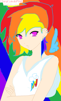 RainBow Dash Human by IcyBloodRaven