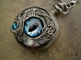 Silver Blue Watch Timepiece by LadyPirotessa