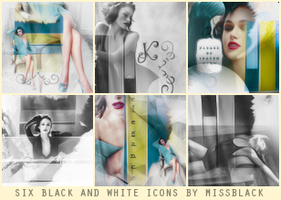 Six Black and White Icons by EmeliaJane
