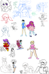 Collab Session: OCs of 34Qucker and Chibi by AD-SD-ChibiGirl