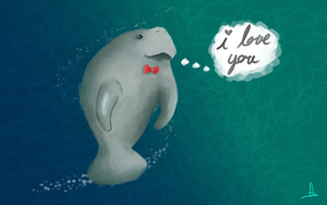 Manatee Love. by palisadian-wasp