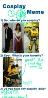 Cosplay meme by Jormungander