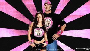 WWE John Cena and AJ Lee Wallpaper Widescreen by Timetravel6000v2