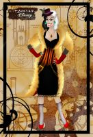 Steampunk Cruella de Vil by HelleeTitch