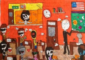 .:Creepypasta at school:. by suriminam