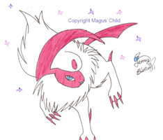 Shiny absol by MaguschildCloud