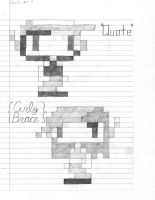 Quote and Curly 8-bit sketch by Jax89man