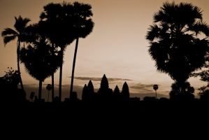 Angkor Wat from afar by amigaboi