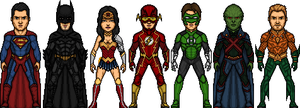 Justice League - 1st 7 by Joker960317