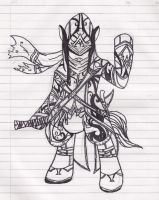 Assassin's Creed Inspired OC pony by Muramasa91