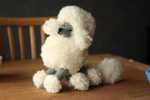 Crocheted poodle - another angle by novablue