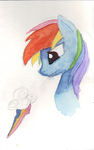 Watercolor: Rainbow Dash by DarkFlame75