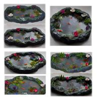 My Latest 4 OOAK Pond Sculptures by Forestina-Fotos