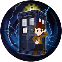 11th Doctor Button Design by Soseiru
