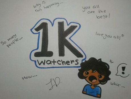 THANKS FOR 1K WATCHERS by SpaceChildHere