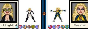 AvsX - Mockingbird vs. Dazzler by GEEKINELL