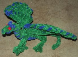 Pipe cleaner green dragon by Anabiyeni