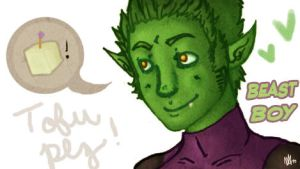 Tofu Plz - Beast Boy- by CrimsonEscapist