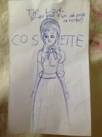a scribbled Cosette by Blame-The-Nargles