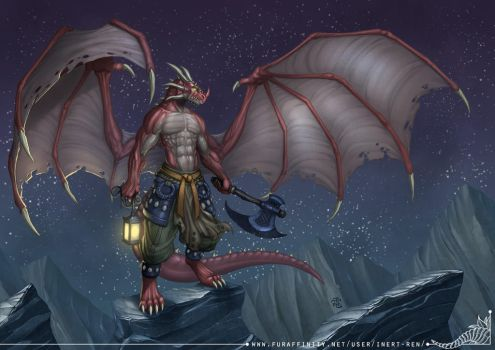 The Red Dragon-Slayer by StriderDen