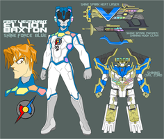 Shine Force Ranger Blue by Tyrranux