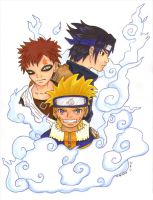 Naruto Trio - Marker by s2kitty