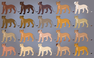 $1 Lioness Adopts - FOUR LEFT by EmilyJayOwens