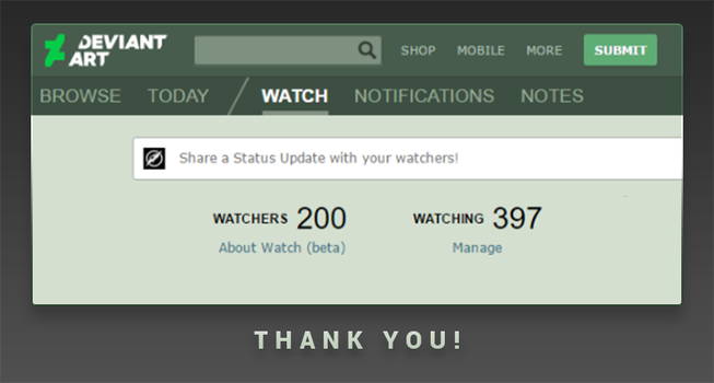 200 Watcher!! Thank you!! by qs2435