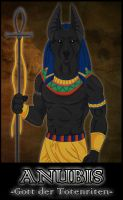 Anubis - god of deathrituals by NathalieNova