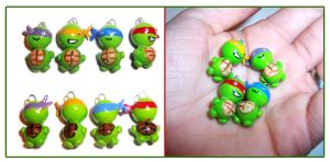 Limited Edition TMNT Charms by bapity88