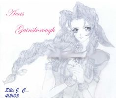 Aeris Gainsborough Anime-Style by Sokai-Sama