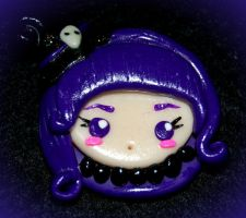 Clay Purple witch by sheamoonie