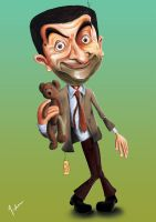 Mr. BEAN Caricature by mazhear