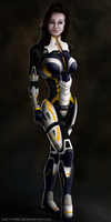 Miranda Lawson Mass Effect 3 by DwarfVader23