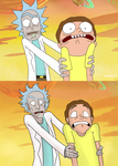 Rick and Morty - scene redraw by TittyBomb