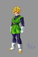 Great Saiyaman ssj2 by Ninja-Master-Tommy