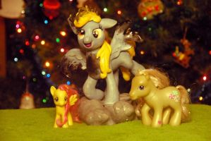 MLP - Derpy Sculpture - Size comparison by Miki-