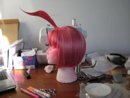in progress Princess Tutu wig by SerenadeStrong