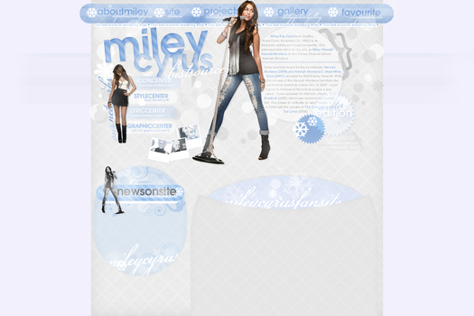 Miley Cyrus layout by hungrybeardesigns