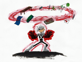 Danny Phantom 'Telekinetic Power' by CwieChanti