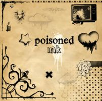 Poisoned ink brushes by XxMortanixX