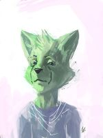 green cat dude by GatoDelCielo