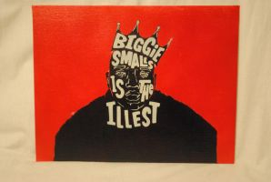 Biggie Smalls is the Illest / 11 x 14 / Canvas by Joshfryguy