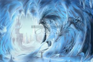 Dragon's Ice by lunarsparks