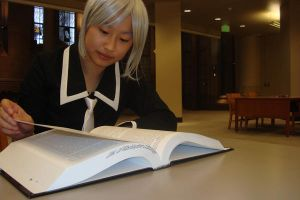 Yuki is studying by bookadict